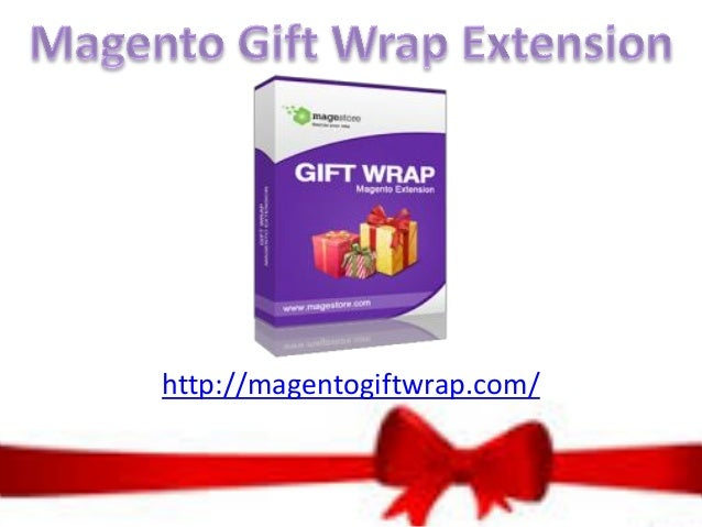 Magento gift wrap extension
