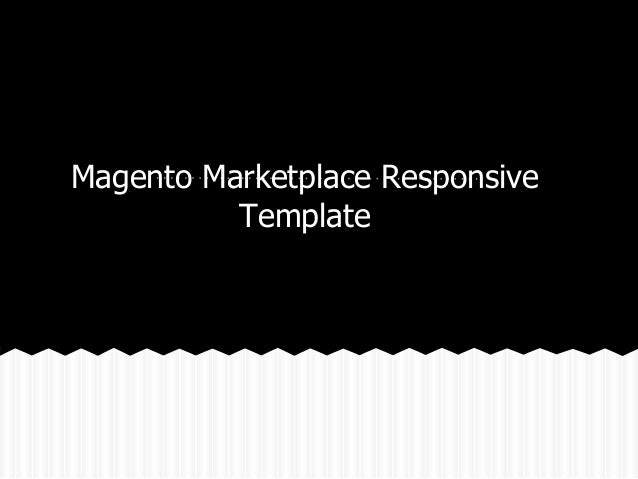 Magento Marketplace Responsive Template