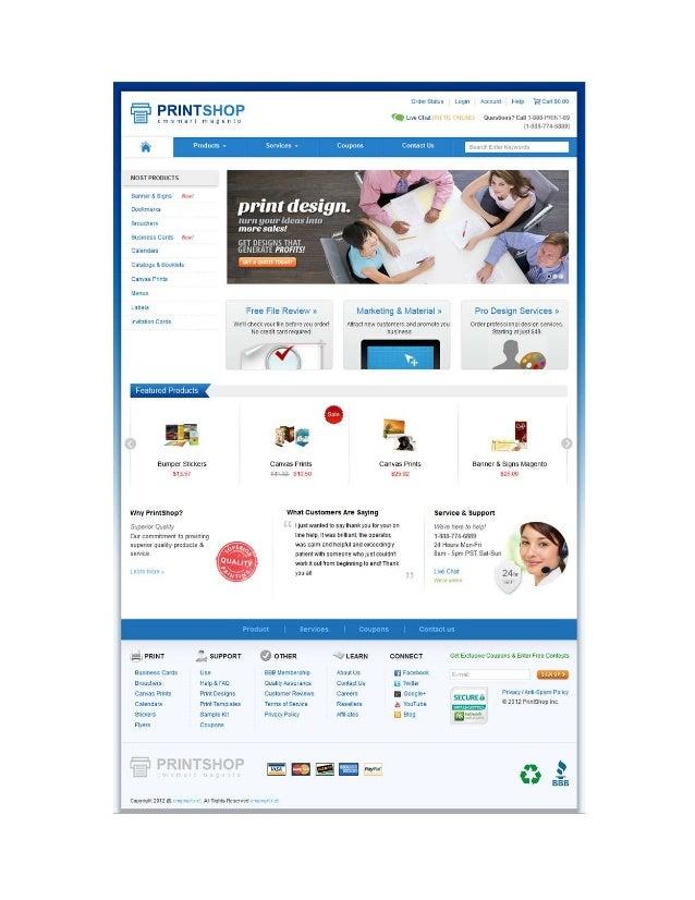 Magento Printing website Theme | Magento Print shop Theme