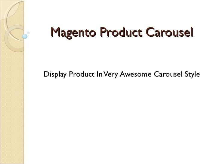 Magento Product Carousel Display Product In Very Awesome Carousel Style