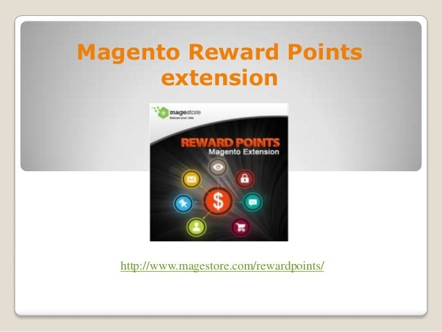 Magento Reward Points extension produced by Magestore