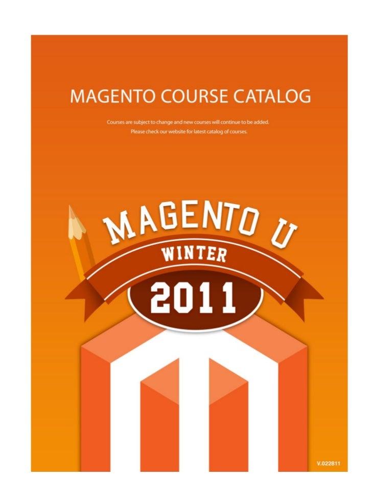Magento U Winter Catalog