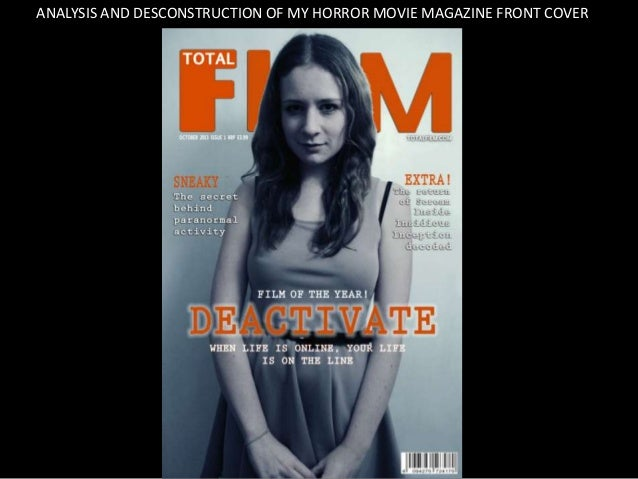 ANALYSIS AND DESCONSTRUCTION OF MY HORROR MOVIE MAGAZINE FRONT COVER