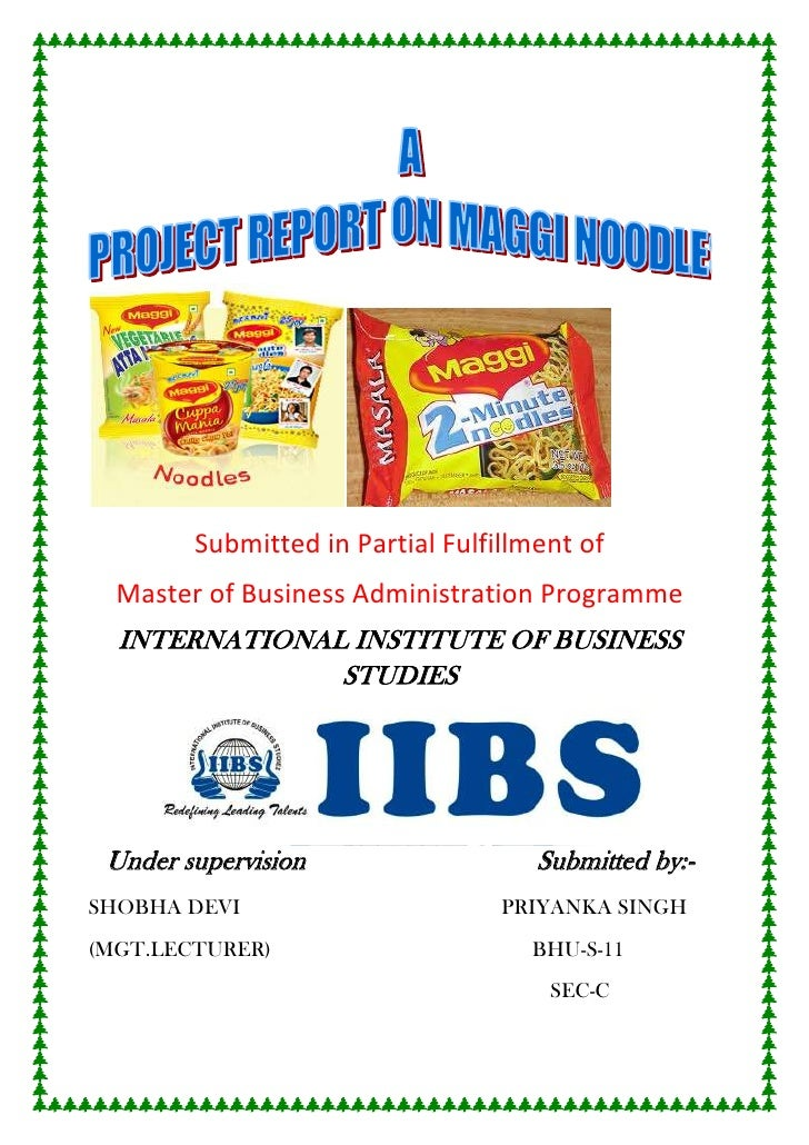Submitted in Partial Fulfillment of  Master of Business Administration Programme  INTERNATIONAL INSTITUTE OF BUSINESS     ...