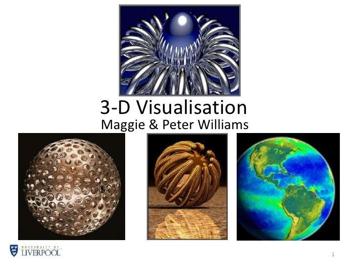 3-D Visualisation<br />Maggie & Peter Williams<br />1<br />