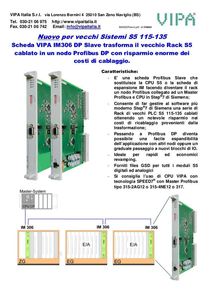 VIPA Italia S.r.l. via Lorenzo Bernini 4 25010 San Zeno Naviglio (BS) Tel. 030-21 06 975    http://www.vipaitalia.it Fax. ...