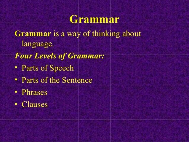Magic Lens: Grammar Notes