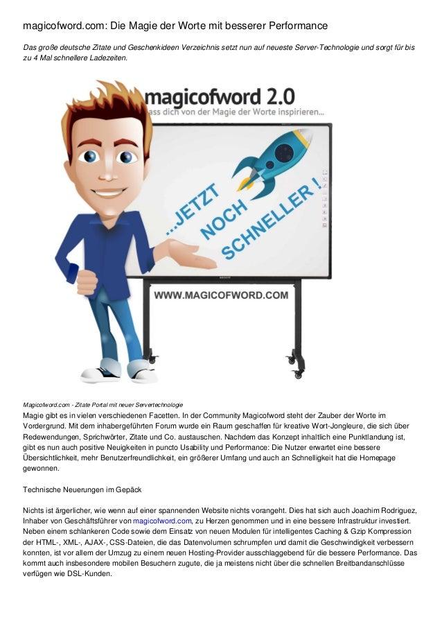 magicofword.com: Die Magie der Worte mit besserer Performance Das große deutsche Zitate und Geschenkideen Verzeichnis setz...