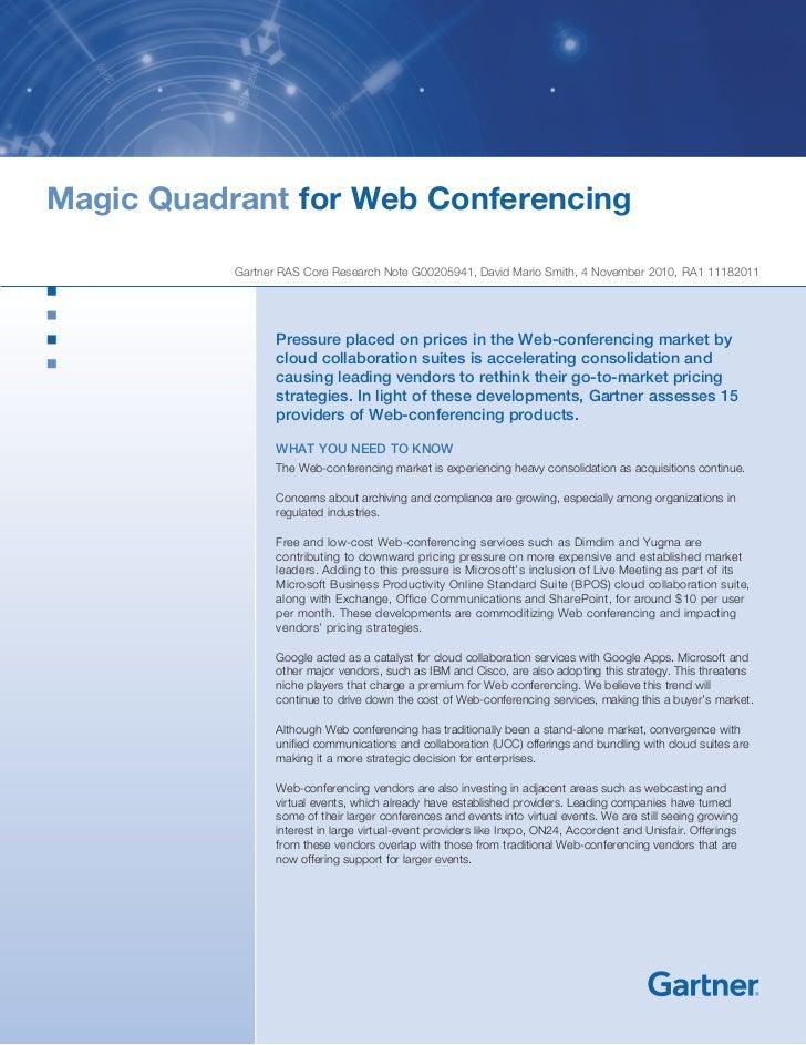 Magic quadrant for_wc2010
