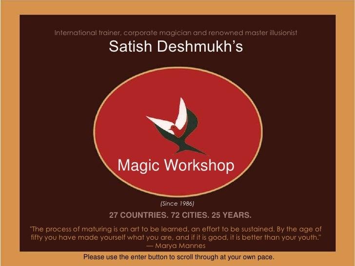 Magic workshop 1986 2010