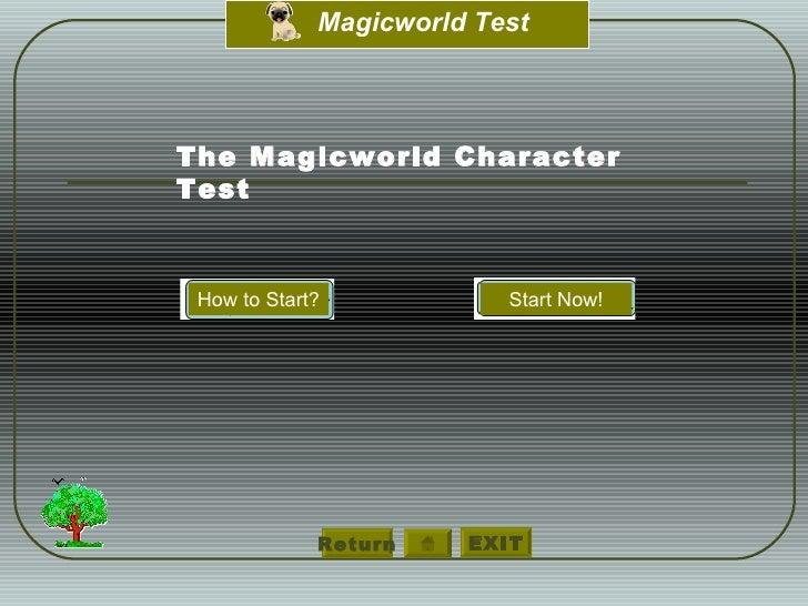 Return The Magicworld Character  Test How to Start? Start Now!