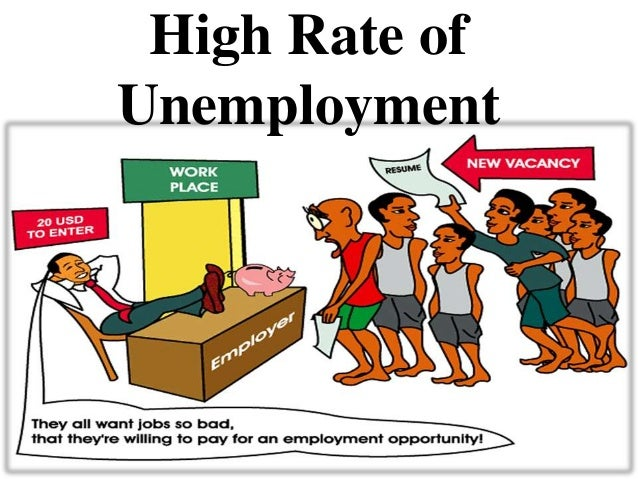 problem of unemployment Unemployment is a problem which affects not just individual people but the financial and economic condition of a whole country it is for this reason that countries try their best to have proper economic policies so that at no point in time do they find themselves in a problematic situation.