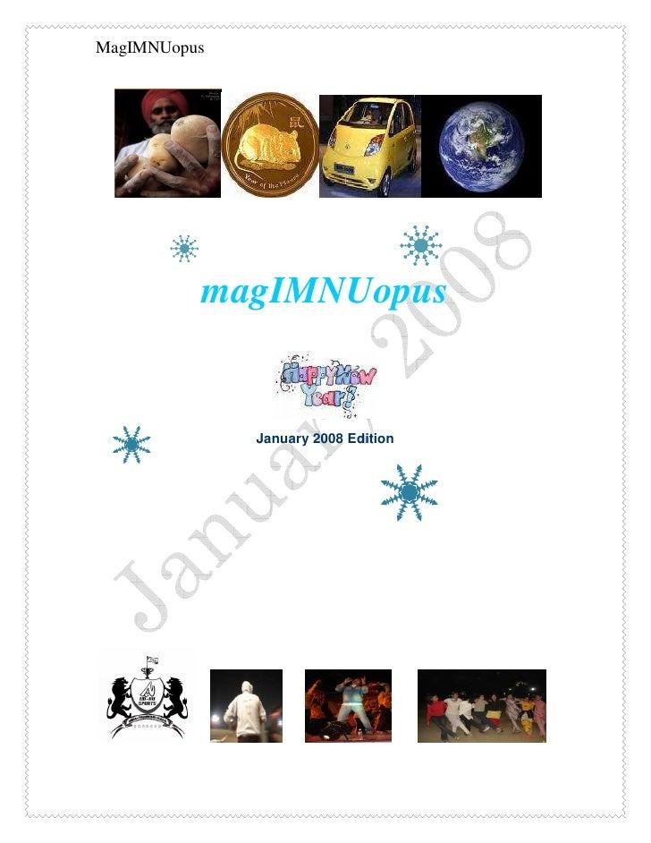 MagIMNUopus               magIMNUopus                 January 2008 Edition