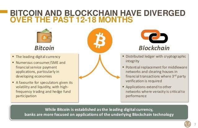 bitcoin blockchain difference