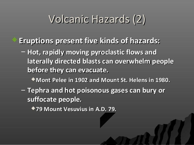 the hazards presented by volcanic and The hazards presented by volcanic and seismic events have the greatest impact on the world's poorest people' to what extent do you agree with this view.