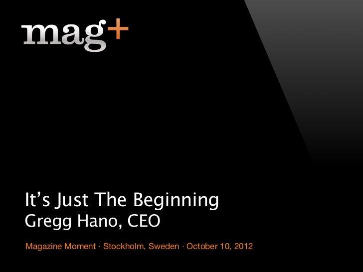 "Gregg Hano on Digital Publishing: ""It's just the beginning"""