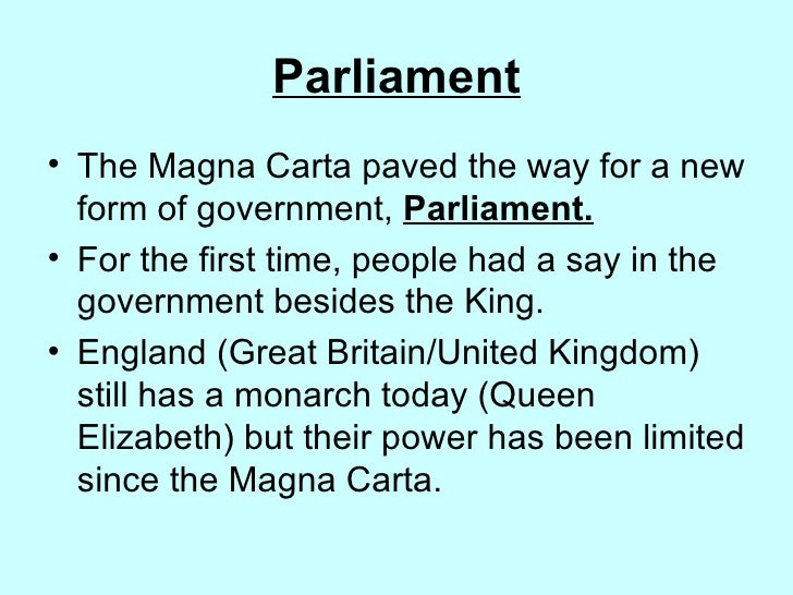 what was the impact of the magna carta