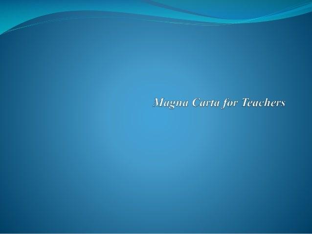 Magna carta for teachers republic act