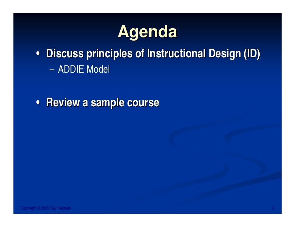 Instructional System Design Isd Using The Addie Model Oukasfo
