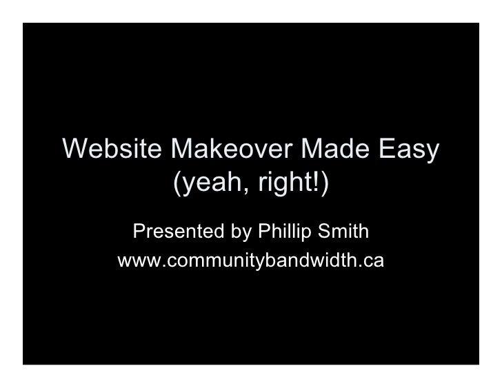 Website Makeover Made Easy