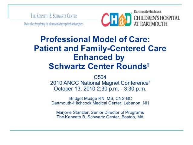 Professional Model of Care: Patient and Family-Centered Care Enhanced by Schwartz Center Rounds® C504 2010 ANCC National M...