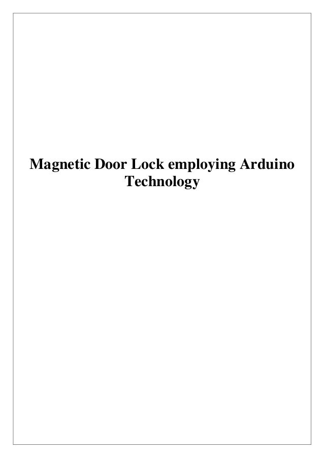Magnetic Door Lock employing Arduino             Technology