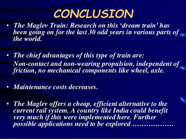 magnetic levitation research papers The icmltmt 2018 event aims to bring together leading academic scientists, researchers and research scholars to exchange and share their experiences and research results on all aspects of magnetic levitation technology and maglev transportation.