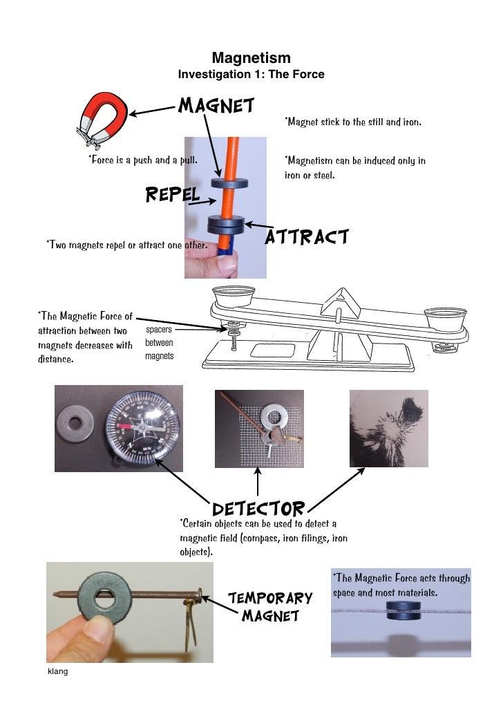 Magnetism                                  Investigation 1: The Force                                   Magnet            ...