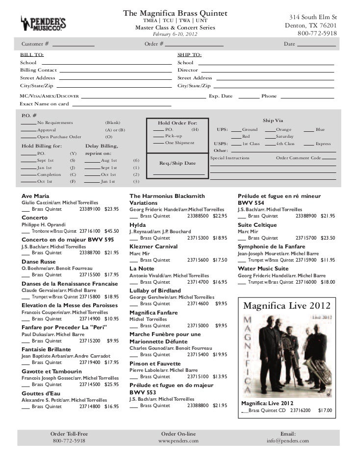 The Magnifica | TX 2012 Master Class & Concert Series Sheet Music