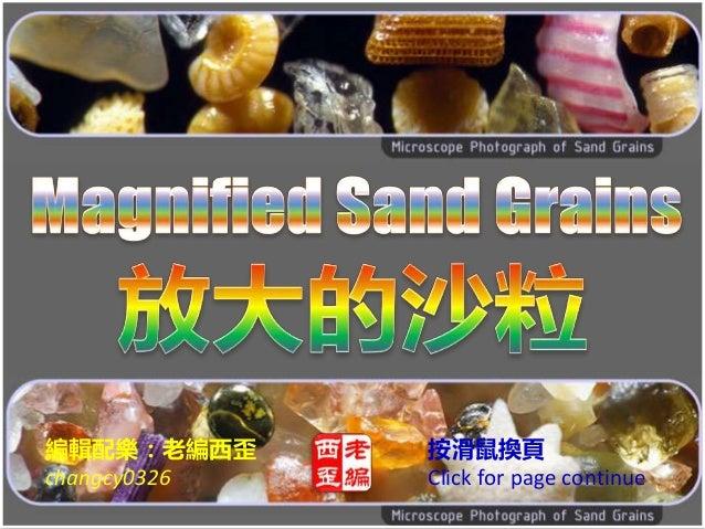 Magnified sand grains (放大的沙粒)
