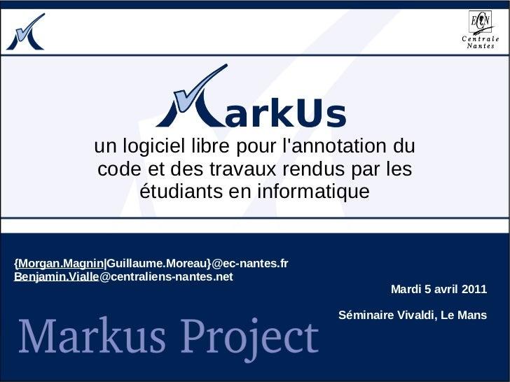MarkUs, un logiciel libre pour l'annotation du code et des travaux rendus par les étudiants en informatique
