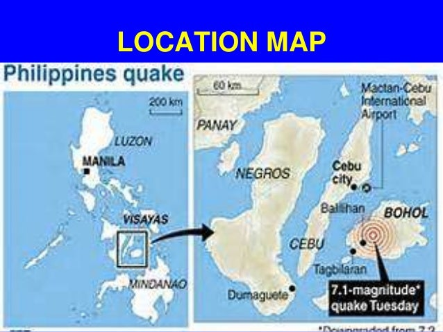 Magnitude 7.2 earthquake strikes the philippines 15 october 2013