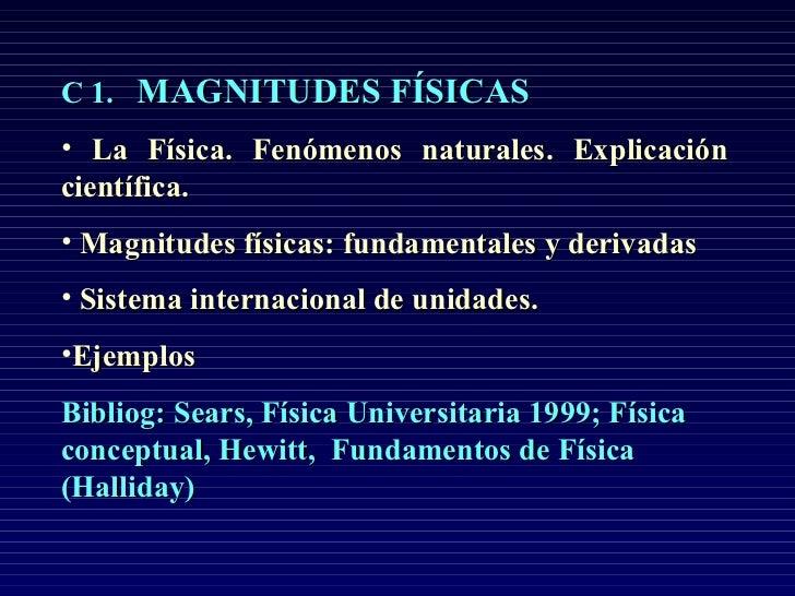 Magnitudes fisicas