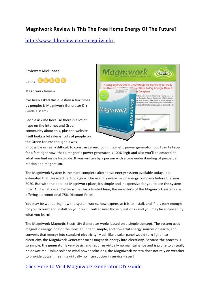 Magniwork Review Is It Better Than Solar And Wind Power 4dreview