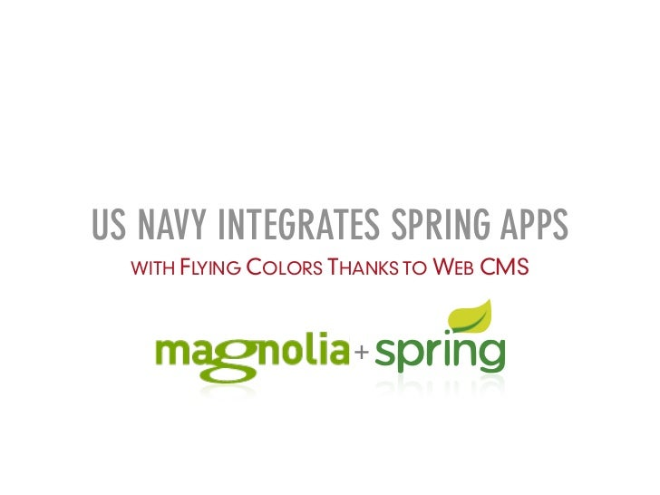 US NAVY INTEGRATES SPRING APPS  WITH FLYING COLORS THANKS TO WEB CMS                      +