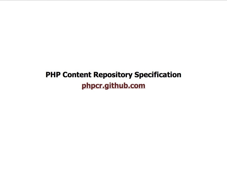 Magnolia and PHPCR