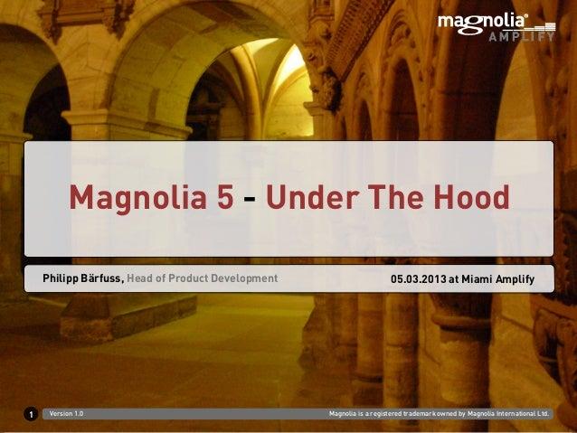 Magnolia 5 - Under The Hood    Philipp Bärfuss, Head of Product Development                      05.03.2013 at Miami Ampli...