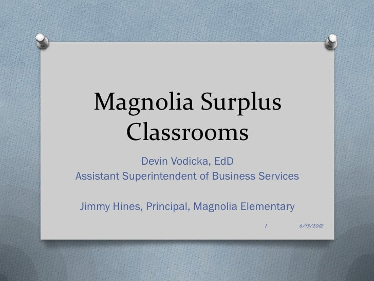 Magnolia Surplus Classrooms
