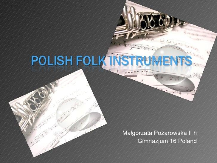 Małgorzata Pożarowska II h Gimnazjum 16 Poland
