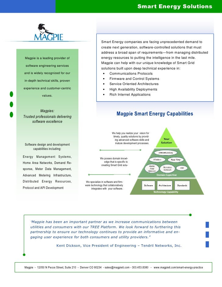 Magpie  Smart Energy Brochure