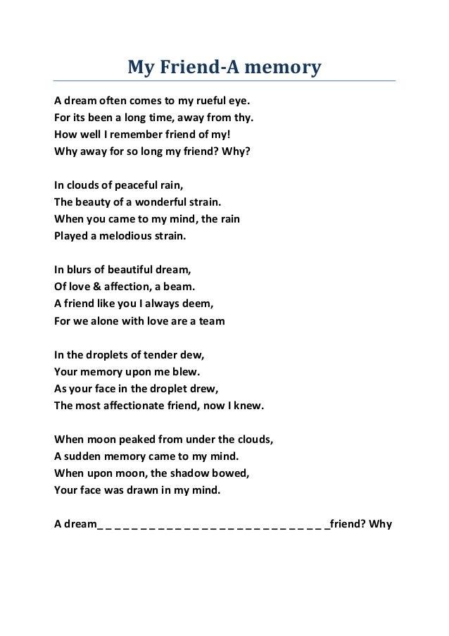 Mag poem my friend