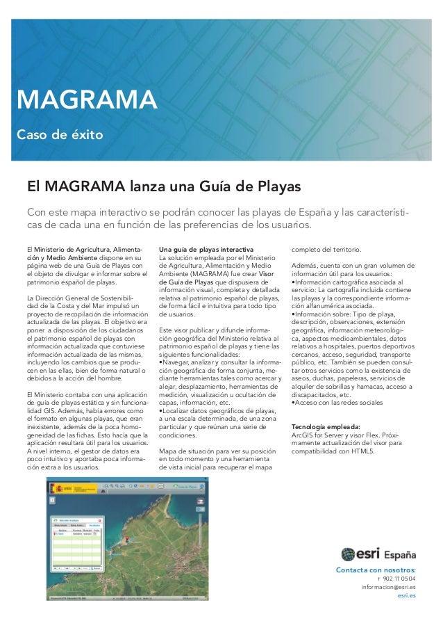 El MAGRAMA lanza una Guía de Playas Con este mapa interactivo se podrán conocer las playas de España y las característi- c...