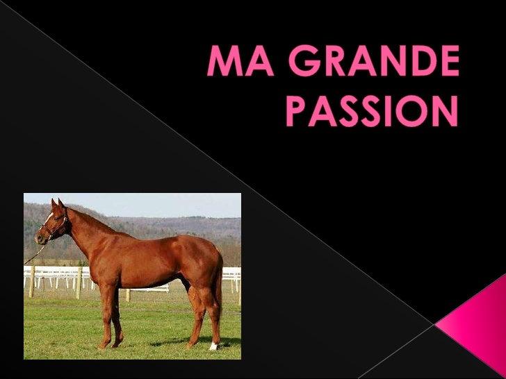 MA GRANDE PASSION<br />