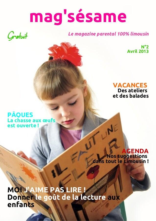 Mag'sésame n°2 avril 2013