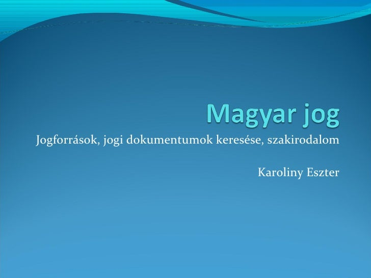 Magyar jog 2011