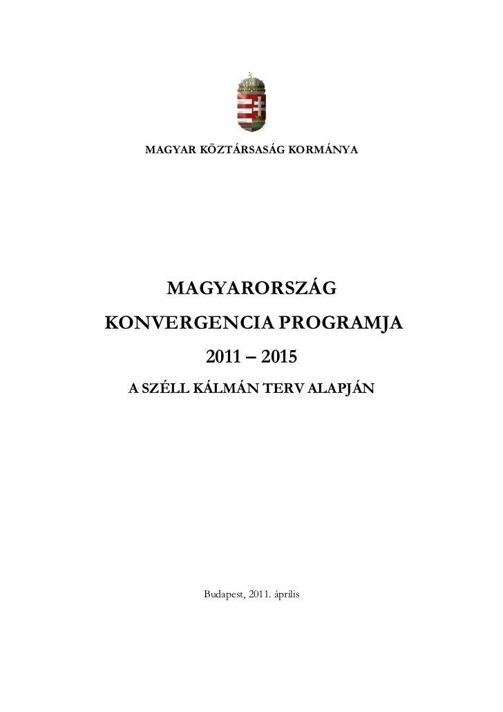 Magyarország Konvergencia Programja 2011-2015 pdf letöltés
