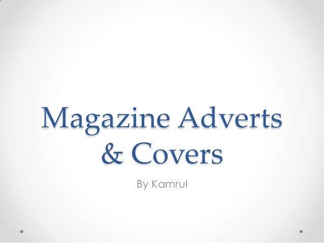 Magazine Adverts & Covers By Kamrul