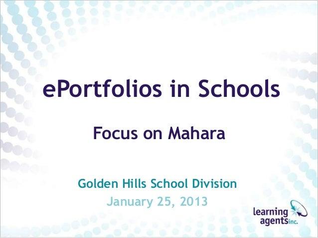 Mahara 4 Schools updated GHSD