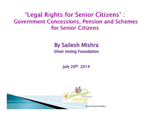 Legal Rights for Senior Citizens: Government Concessions, Pension and Schemes in Maharashtra