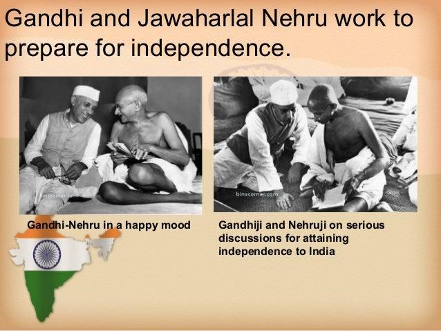 gandhi and jawaharlal ...